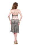 gilt shimmer & icing lace ruched skirt - Poema Tango Clothes: handmade luxury clothing for Argentine tango