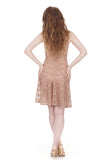 glimmering blush layering dress - Poema Tango Clothes: handmade luxury clothing for Argentine tango