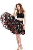 glossy embroidery & velvet skirt - Poema Tango Clothes: handmade luxury clothing for Argentine tango