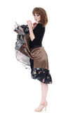 gold & harlequin silk skirt - Poema Tango Clothes: handmade luxury clothing for Argentine tango