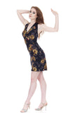 gold night rose halter dress - Poema Tango Clothes: handmade luxury clothing for Argentine tango