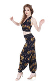 gold night rose tango trousers - Poema Tango Clothes: handmade luxury clothing for Argentine tango