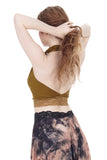 goldenrod signature halter - Poema Tango Clothes: handmade luxury clothing for Argentine tango
