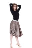 hammered ore velvet bustled skirt - Poema Tango Clothes: handmade luxury clothing for Argentine tango