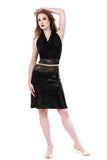 high-shine sequin fluted skirt - Poema Tango Clothes: handmade luxury clothing for Argentine tango