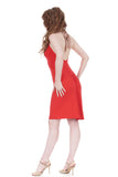 hot fire ruched dress - Poema Tango Clothes: handmade luxury clothing for Argentine tango