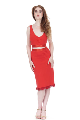 hot fire ruched skirt