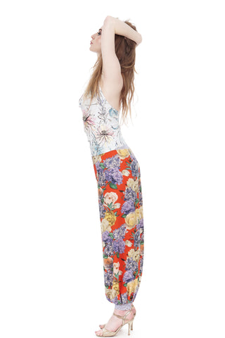 hyacinths & roses crepe tango trousers