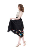 ink & starships silk skirt - Poema Tango Clothes: handmade luxury clothing for Argentine tango