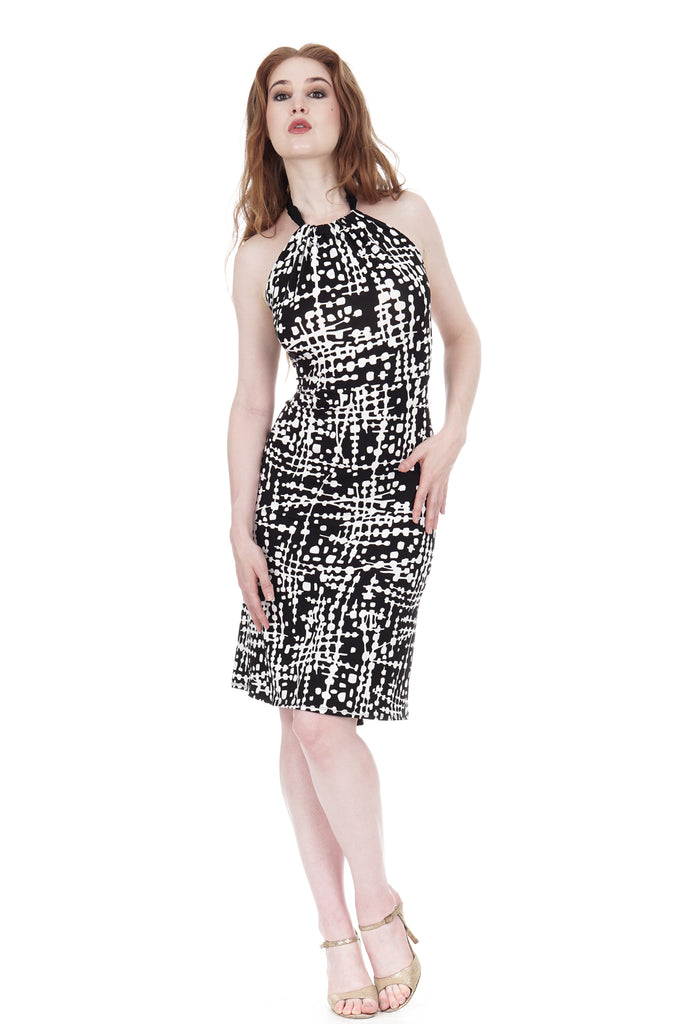 ink graphic dress - Poema Tango Clothes: handmade luxury clothing for Argentine tango