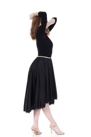 ink silk scrunched floaty skirt - CLEARANCE