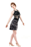 inkflower & dyestorm dress - Poema Tango Clothes: handmade luxury clothing for Argentine tango