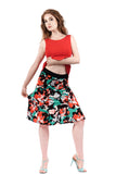 inksplash floral skirt