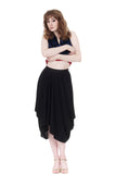inky crepe bustled skirt - Poema Tango Clothes: handmade luxury clothing for Argentine tango