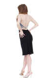 inky rib knit ruched skirt - Poema Tango Clothes: handmade luxury clothing for Argentine tango