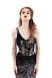 inky roses dance tank - Poema Tango Clothes: handmade luxury clothing for Argentine tango