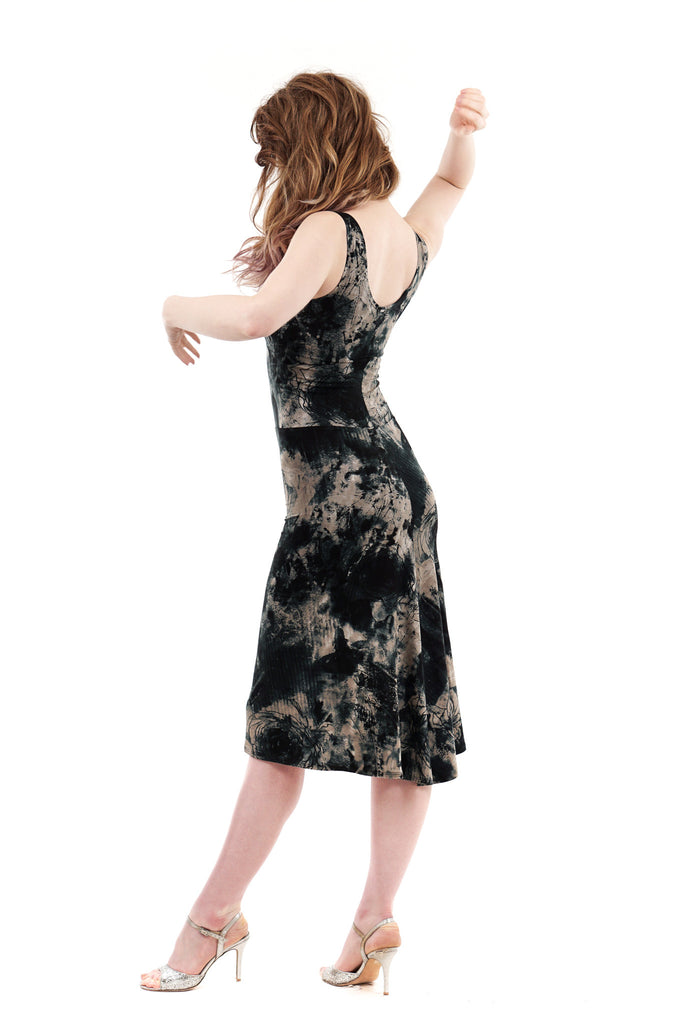 inky roses dress - Poema Tango Clothes: handmade luxury clothing for Argentine tango