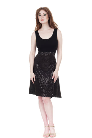inky sequin signature dress