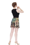iridescent fishtail short draped skirt - Poema Tango Clothes: handmade luxury clothing for Argentine tango