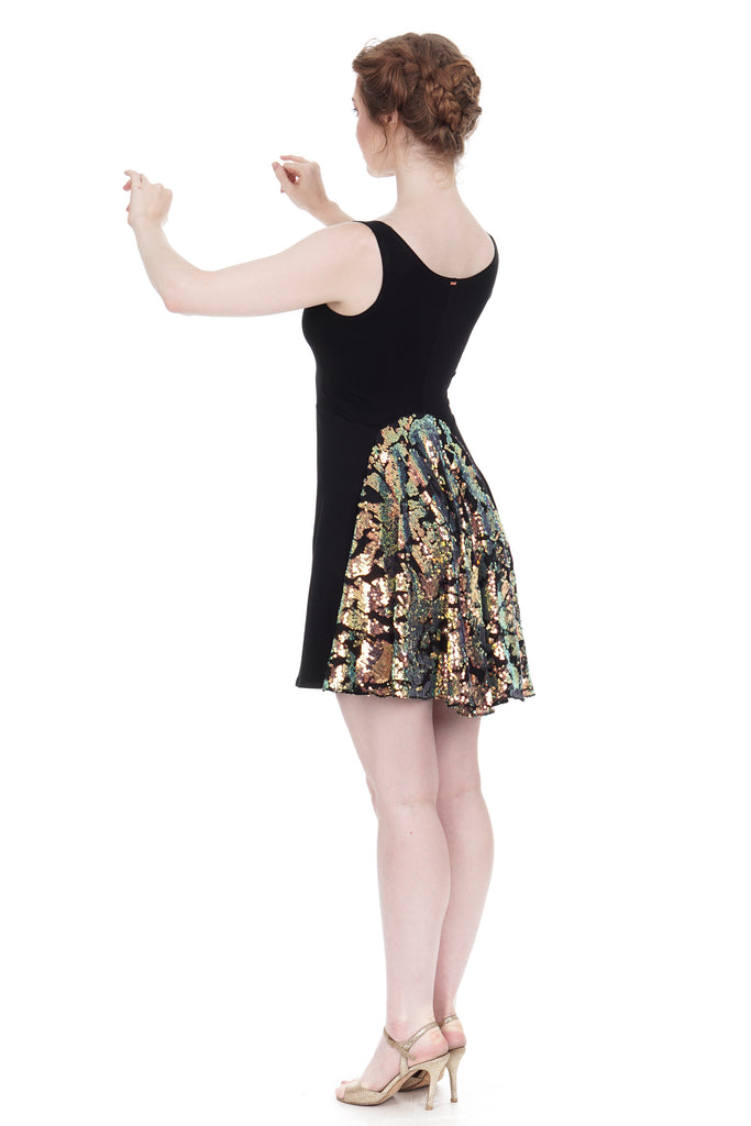 iridescent fishtail tank dress - Poema Tango Clothes: handmade luxury clothing for Argentine tango