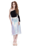iridescent swan draped skirt - Poema Tango Clothes: handmade luxury clothing for Argentine tango