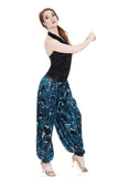 iris bloom silk tango trousers - Poema Tango Clothes: handmade luxury clothing for Argentine tango