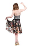 jacquard garden circle skirt - Poema Tango Clothes: handmade luxury clothing for Argentine tango