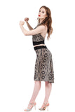 jeweled scales fluted skirt - Poema Tango Clothes: handmade luxury clothing for Argentine tango