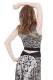 lace menagerie dance tank - Poema Tango Clothes: handmade luxury clothing for Argentine tango