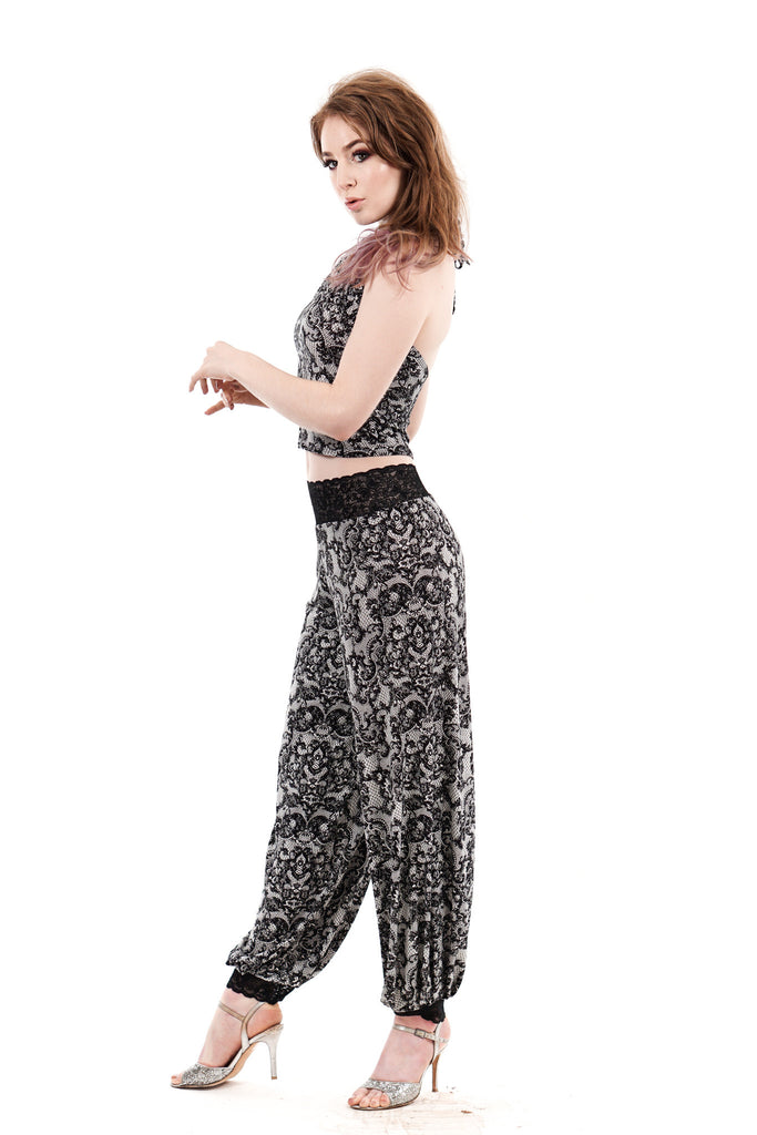 lacelook tango trousers - Poema Tango Clothes: handmade luxury clothing for Argentine tango