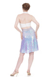 lavender unicorn draped skirt - Poema Tango Clothes: handmade luxury clothing for Argentine tango