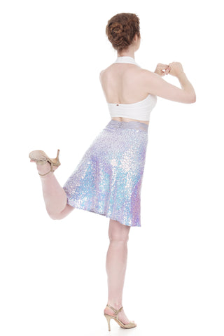 lavender unicorn draped skirt