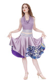lavender watercolor circle skirt - Poema Tango Clothes: handmade luxury clothing for Argentine tango
