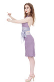 lavender watercolor ruched skirt - Poema Tango Clothes: handmade luxury clothing for Argentine tango