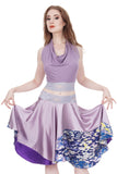 lavender watercolor signature halter - Poema Tango Clothes: handmade luxury clothing for Argentine tango