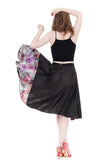 leatherette & flowers skirt - Poema Tango Clothes: handmade luxury clothing for Argentine tango