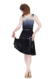 leatherette draped and ruched skirt - Poema Tango Clothes: handmade luxury clothing for Argentine tango