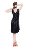 leatherette tank shift - Poema Tango Clothes: handmade luxury clothing for Argentine tango