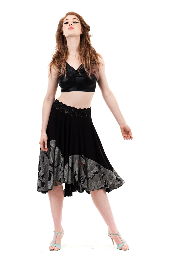 line drawing circle skirt - Poema Tango Clothes: handmade luxury clothing for Argentine tango