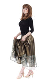 liquid moonlight & goldshot silk skirt - Poema Tango Clothes: handmade luxury clothing for Argentine tango