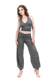 marled wicking tango trousers - Poema Tango Clothes: handmade luxury clothing for Argentine tango