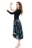 mazarine blooms & sequins silk skirt - Poema Tango Clothes: handmade luxury clothing for Argentine tango