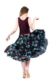 mazarine blooms and underwater sequins skirt - Poema Tango Clothes: handmade luxury clothing for Argentine tango