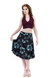 mazarine blooms flared skirt - Poema Tango Clothes: handmade luxury clothing for Argentine tango