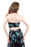 mazarine blooms ruched halter - Poema Tango Clothes: handmade luxury clothing for Argentine tango