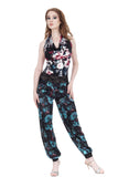 mazarine blooms silk tango trousers - Poema Tango Clothes: handmade luxury clothing for Argentine tango