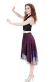 merlot and amethyst circle skirt - Poema Tango Clothes: handmade luxury clothing for Argentine tango