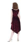 merlot burnout tank dress - Poema Tango Clothes: handmade luxury clothing for Argentine tango