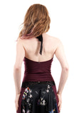 merlot high-necked halter - Poema Tango Clothes: handmade luxury clothing for Argentine tango