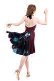 merlot in the nightgarden dress - Poema Tango Clothes: handmade luxury clothing for Argentine tango